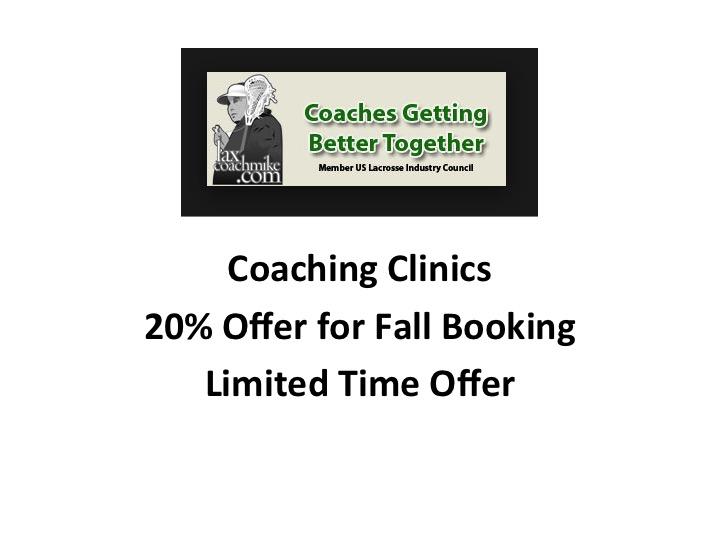Lacrosse Coaching Clinics, laxcoachmike