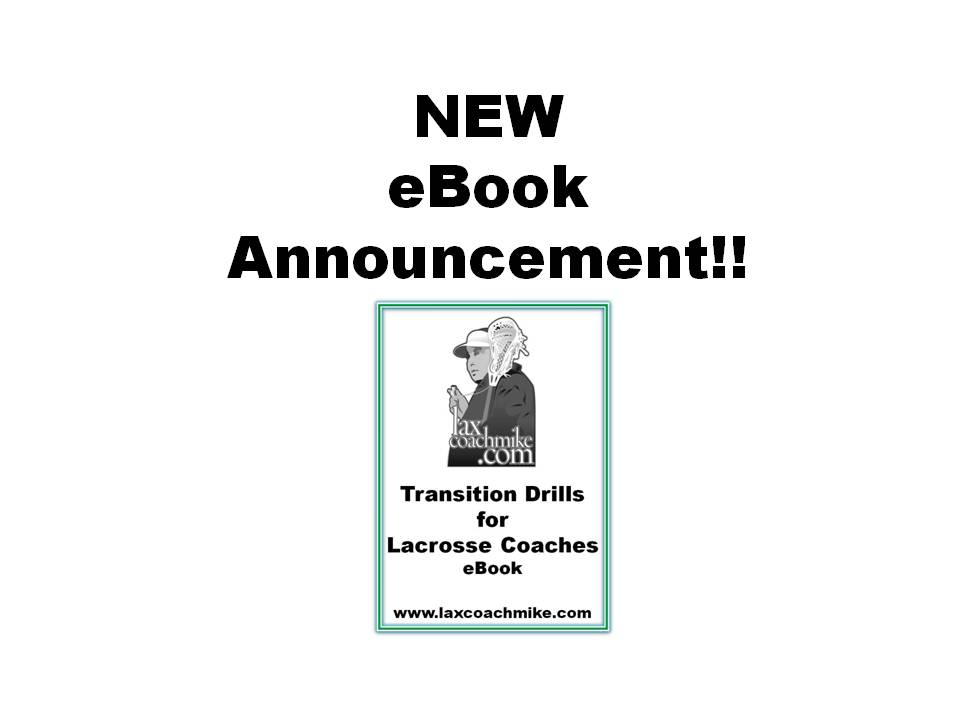 NEW eBook, Transition Lacrosse Drills