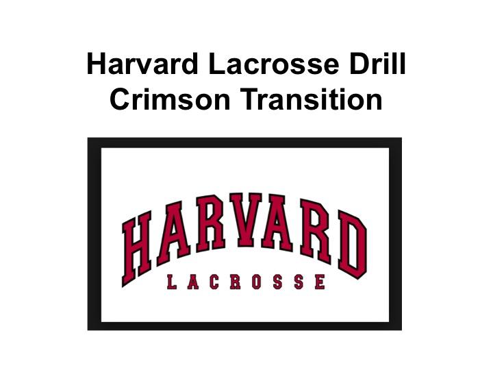 Article: Crimson Transition Drill