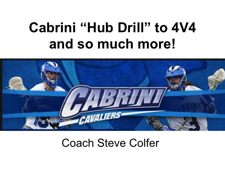 Article: Cabrini Hub Drill to 4V4 and so much more