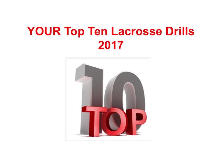 Article: Top Ten Lacrosse Drills you like in 2017