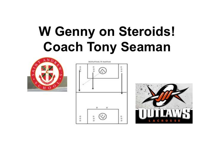 Article:  Coach Seaman, W Genny on Steroids