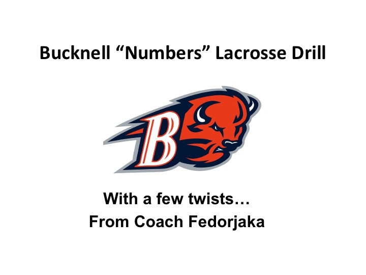 "Article:  Bucknell ""Numbers Lacrosse Drill"" w Creative Twists"