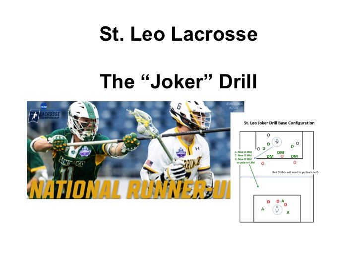 Article: St. Leo, The Joker Lacrosse Drill