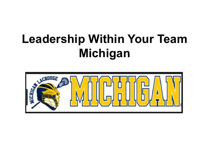 Article: Michigan, Developing Leaders Within the Team